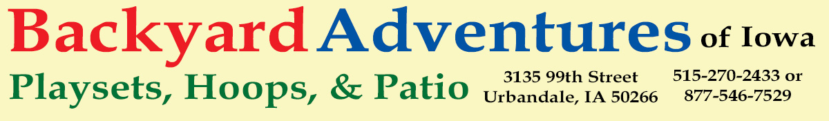 Backyard Adventures Iowa - Play Sets, Basketball Hoops and ...